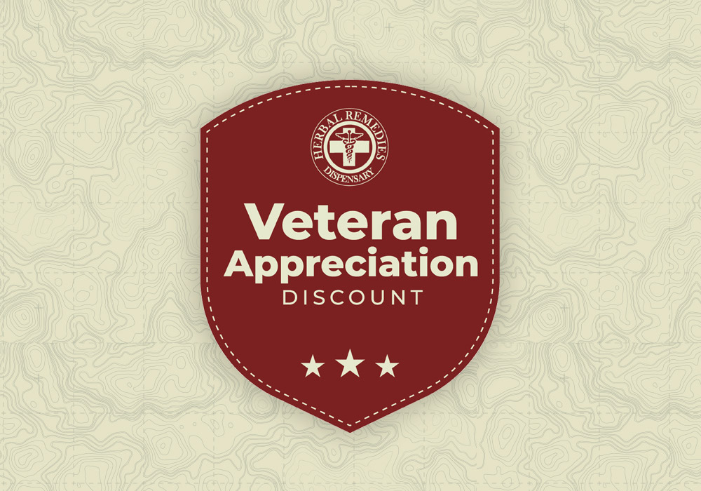 herbal remedies veteran appreciation discount logo