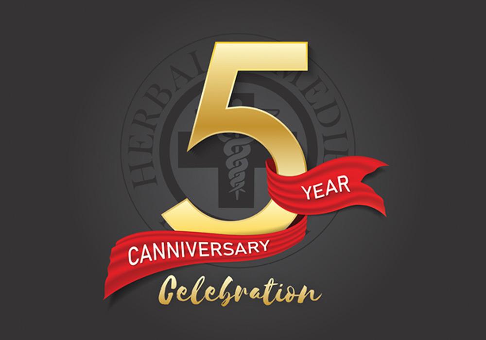5 year canniversary celebration