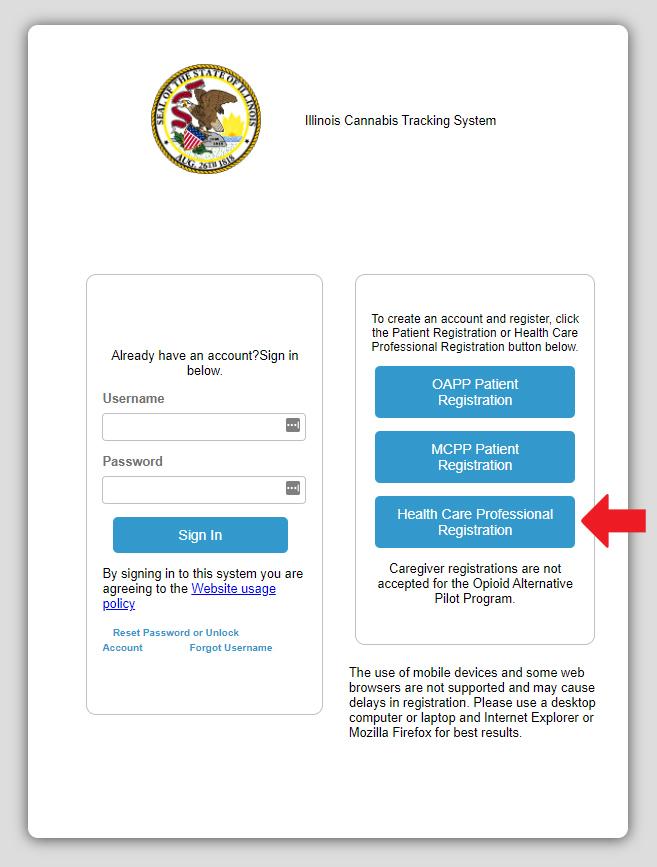 online healthcare certification screenshot