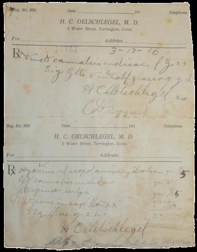 1916 cannabis tincture prescription